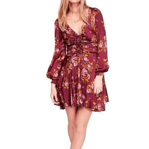 Free People Floral Morning Light Mini Dress